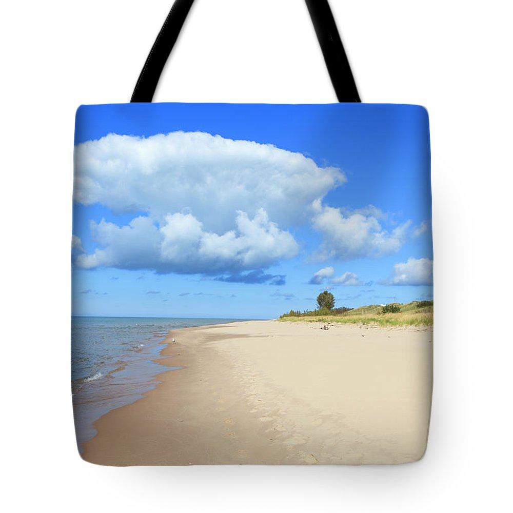 Lake Michigan Tote Bag featuring the photograph Michigan Lake Shore by Espiegle