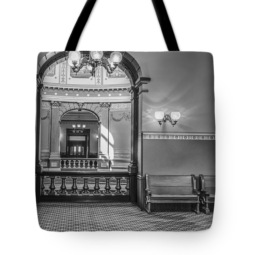 Michigan Tote Bag featuring the photograph Michigan State Capitol 4th Floor by John McGraw