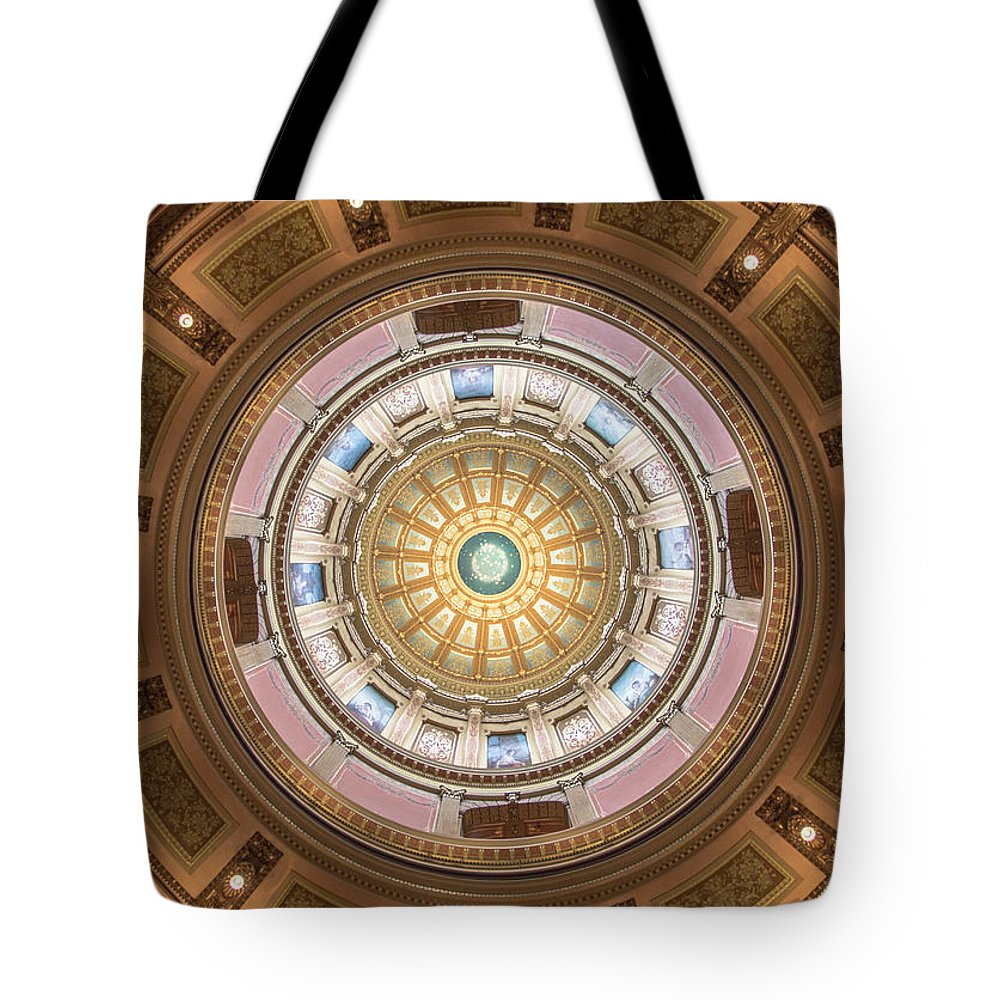 Michigan Tote Bag featuring the photograph Michigan State Capital Dome by John McGraw