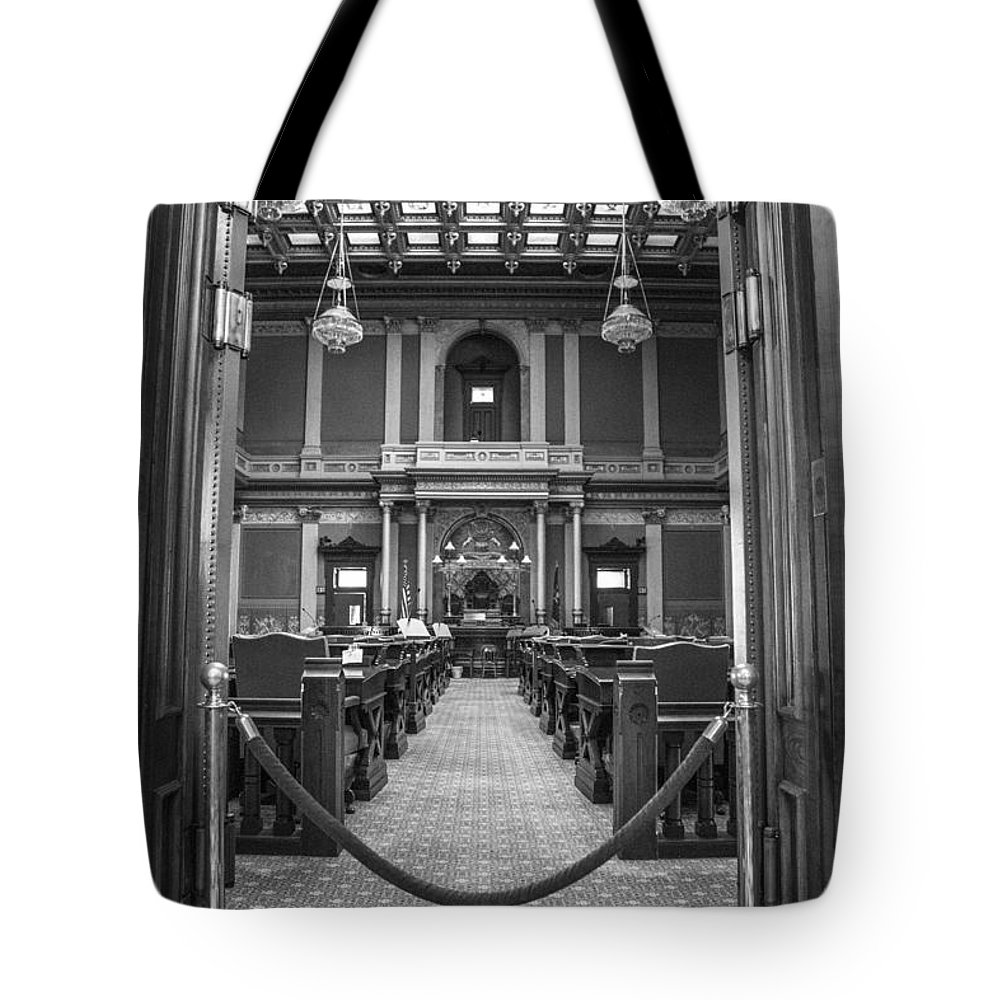 Michigan Tote Bag featuring the photograph Michigan State Senate by John McGraw