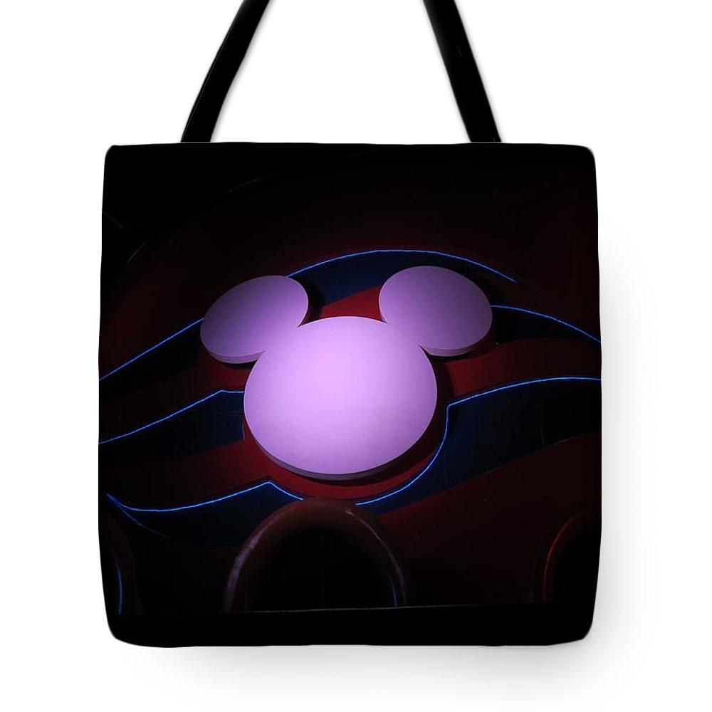 Cruise Ship Tote Bag featuring the photograph Mickey At Sea 4 by Teresa Ruiz