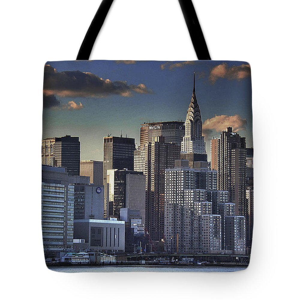 Tote Bag featuring the photograph Mid Manhattan In Hdr by David Resnikoff