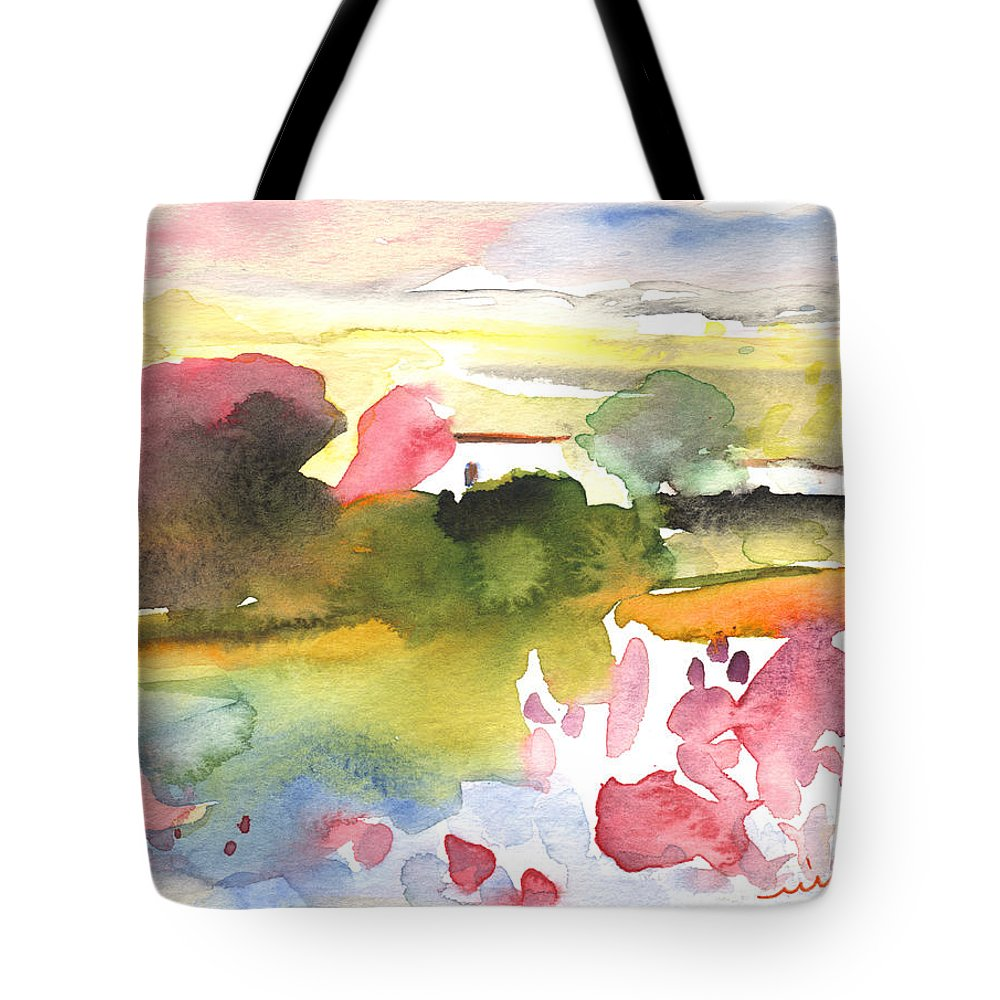 Aquarelle Tote Bag featuring the painting Midday 33 by Miki De Goodaboom