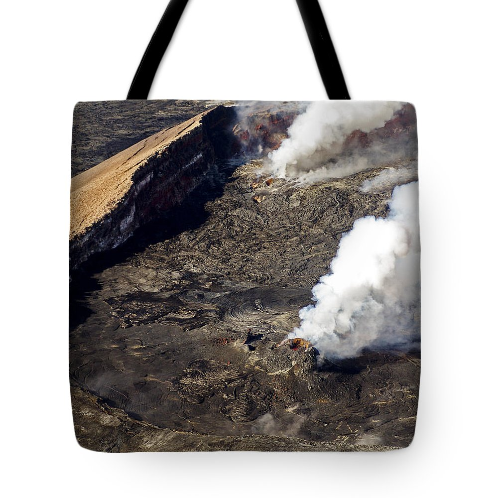 Lava Tote Bag featuring the photograph Middle East Rift Vent by Eric Swan