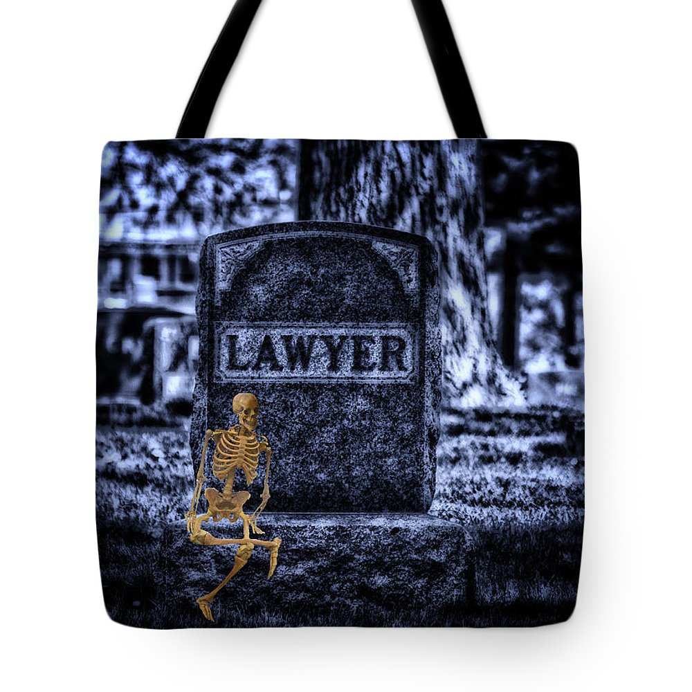 Surrealist Tote Bag featuring the photograph Midnight In The Graveyard With A Lawyer by Thomas Woolworth