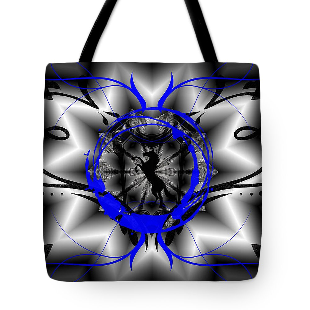 Midnight Tote Bag featuring the digital art Midnight Rider by Michael Damiani