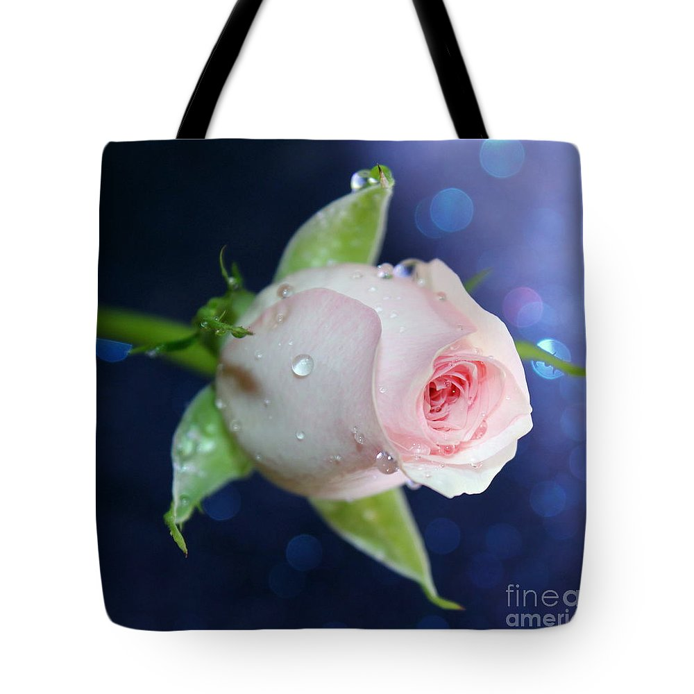 Rose Tote Bag featuring the photograph Midnight Rose by Krissy Katsimbras
