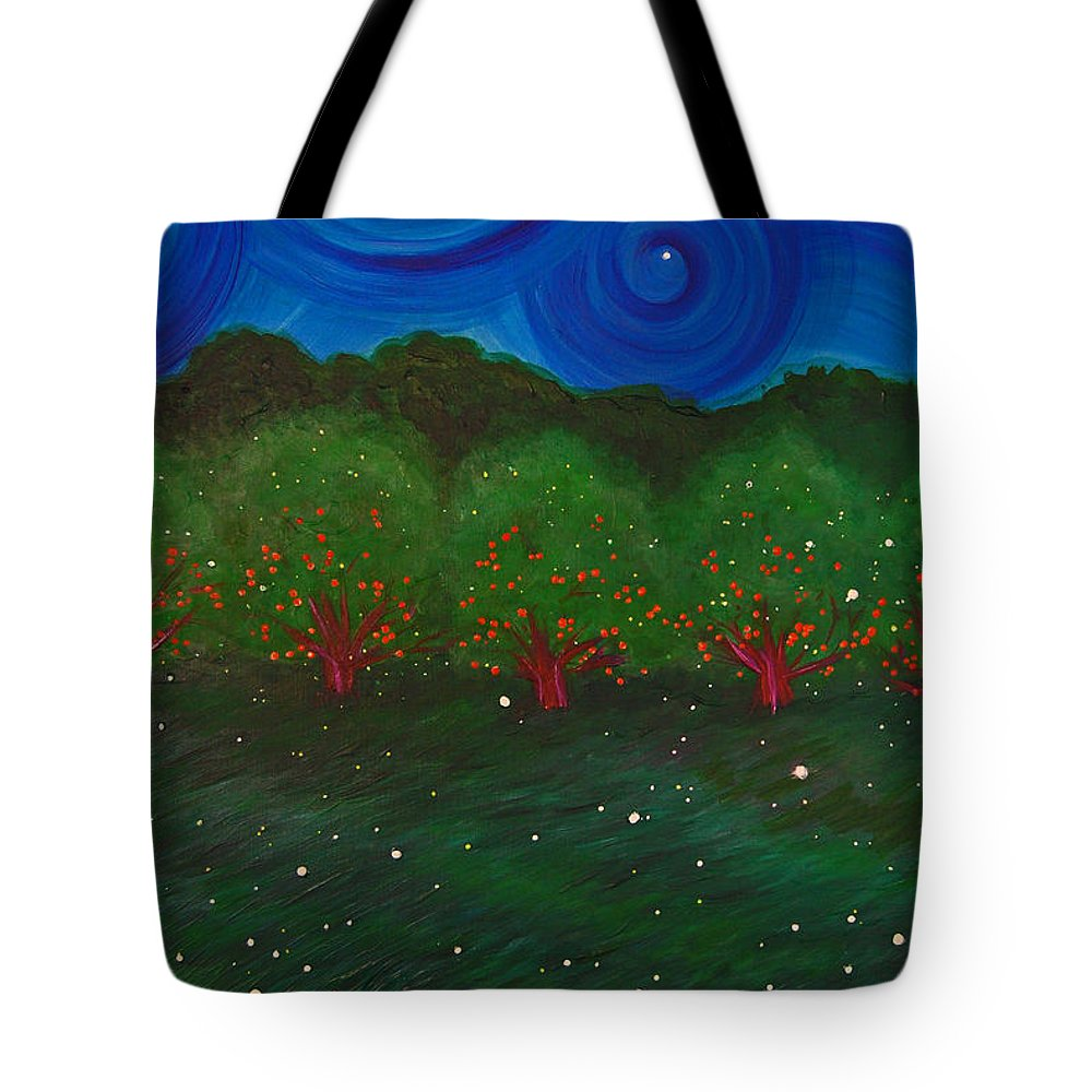 First Star Art Tote Bag featuring the painting Midsummer Night By Jrr by First Star Art