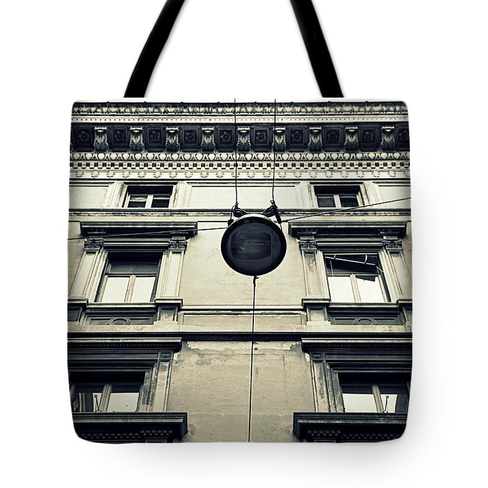 Milan Tote Bag featuring the photograph Milan Building by Valentino Visentini