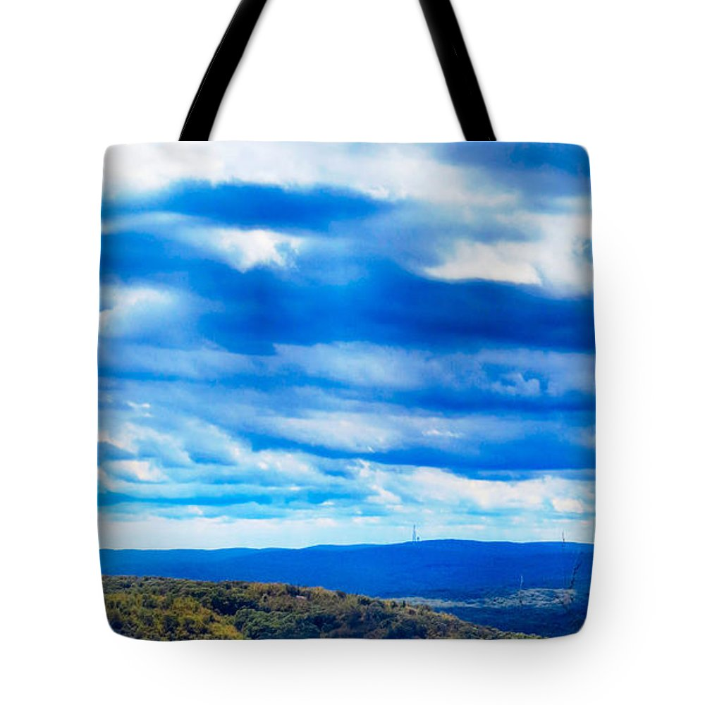 Sky Tote Bag featuring the photograph Miles N Miles by Art Dingo