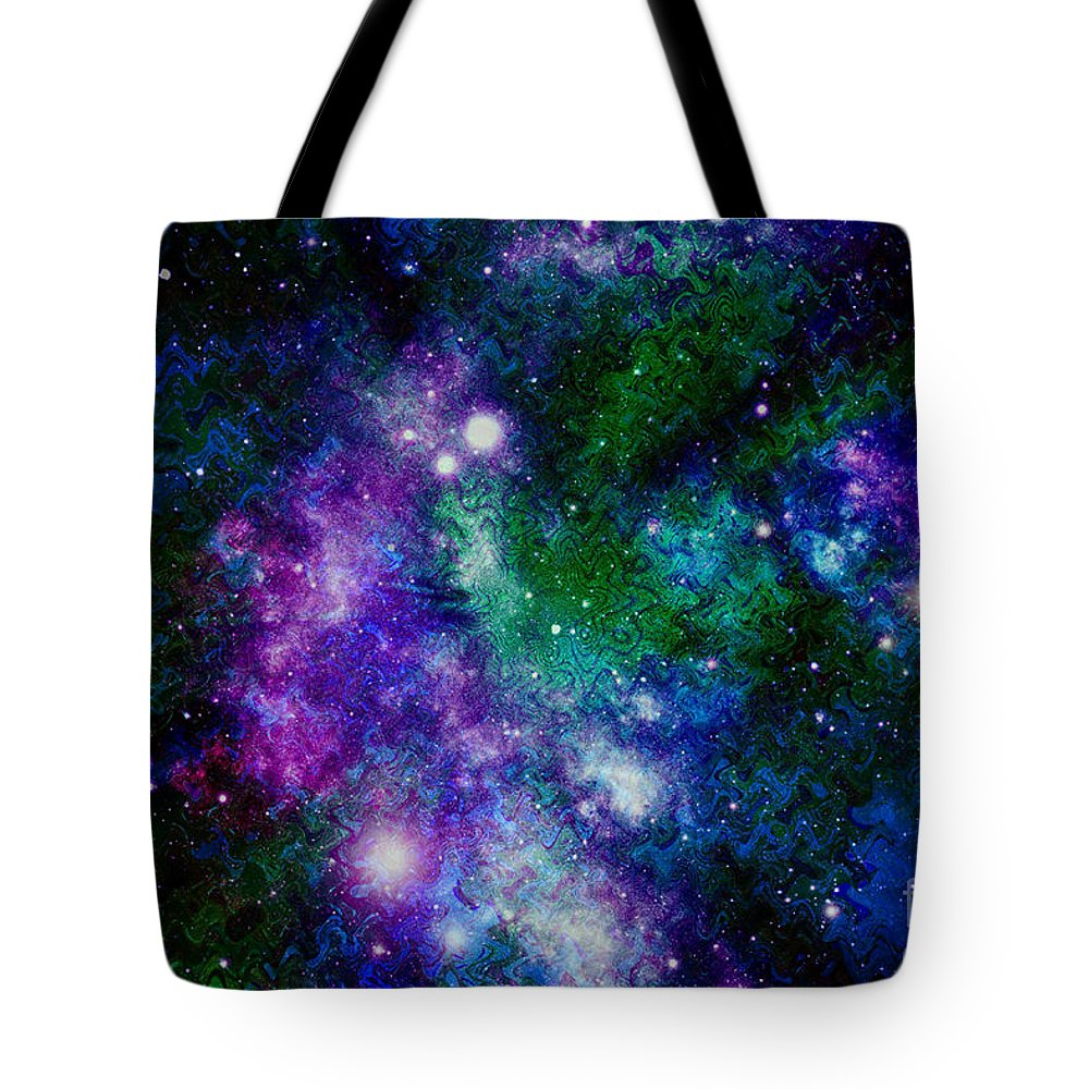 Milky Way Tote Bag featuring the photograph Milky Way Abstract by Carol Groenen
