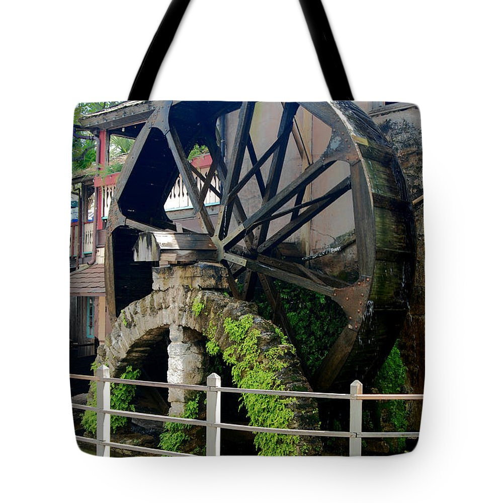 Mill Tote Bag featuring the photograph Water Wheel by Joedes Photography
