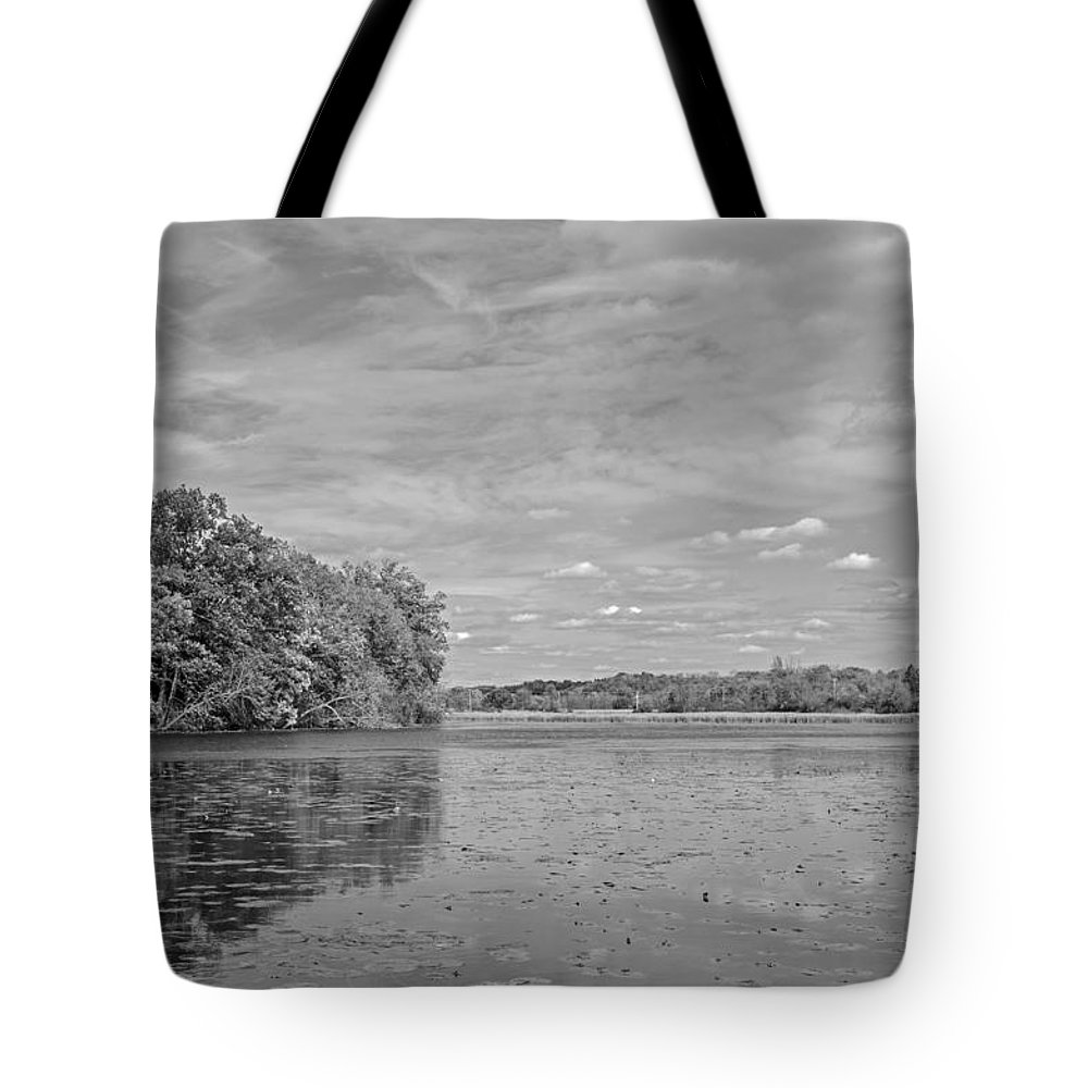 Millpond Tote Bag featuring the photograph Millpond by Susan McMenamin