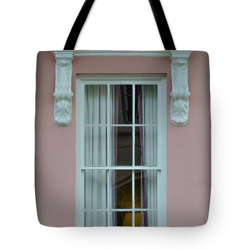 Mills House Tote Bag featuring the photograph Mills House Window by Dale Powell