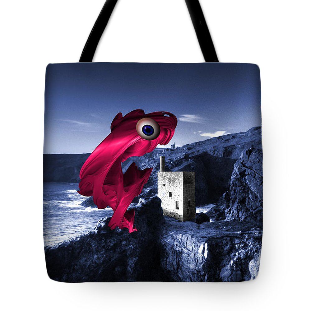 Digital Tote Bag featuring the photograph Mine Swallower by Rob Hawkins