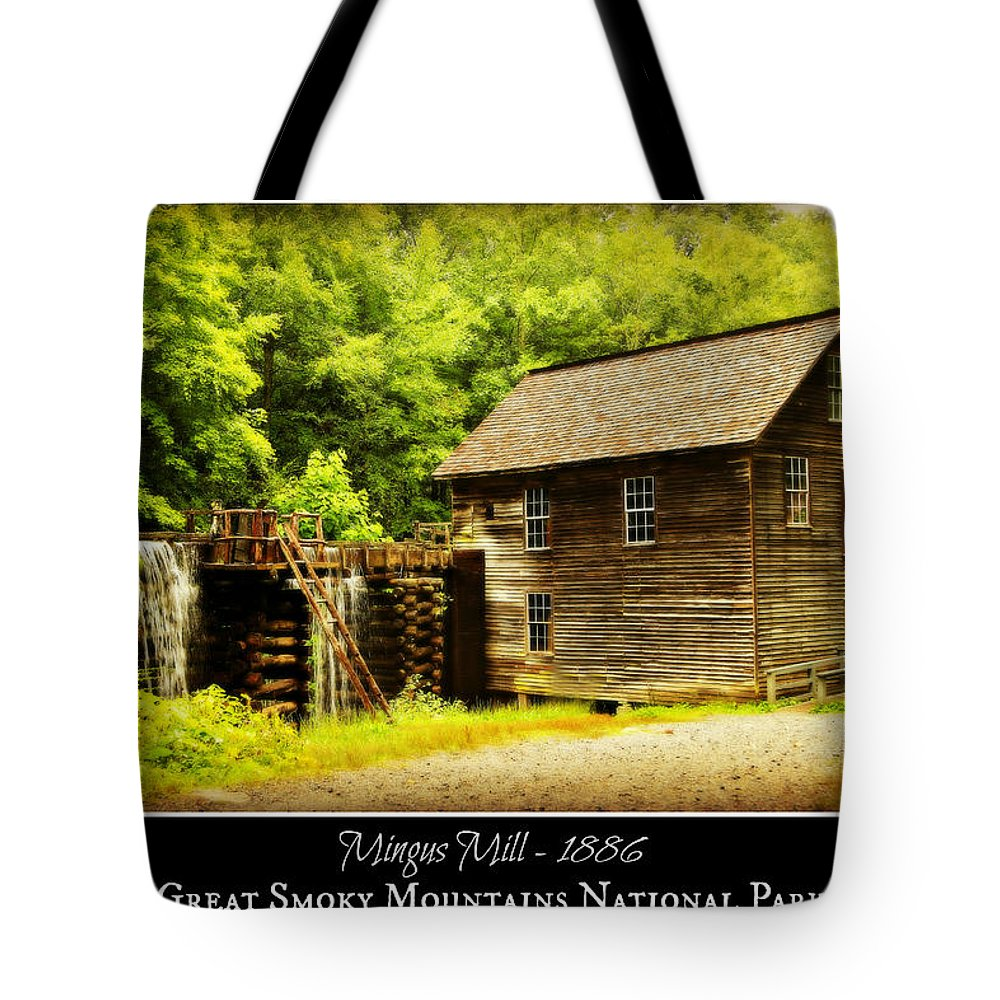 Mingus Mill Tote Bag featuring the photograph Mingus Mill -- Poster by Stephen Stookey