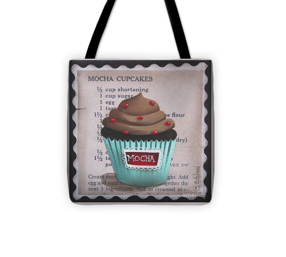Art Tote Bag featuring the painting Mini Mocha Cupcake by Catherine Holman
