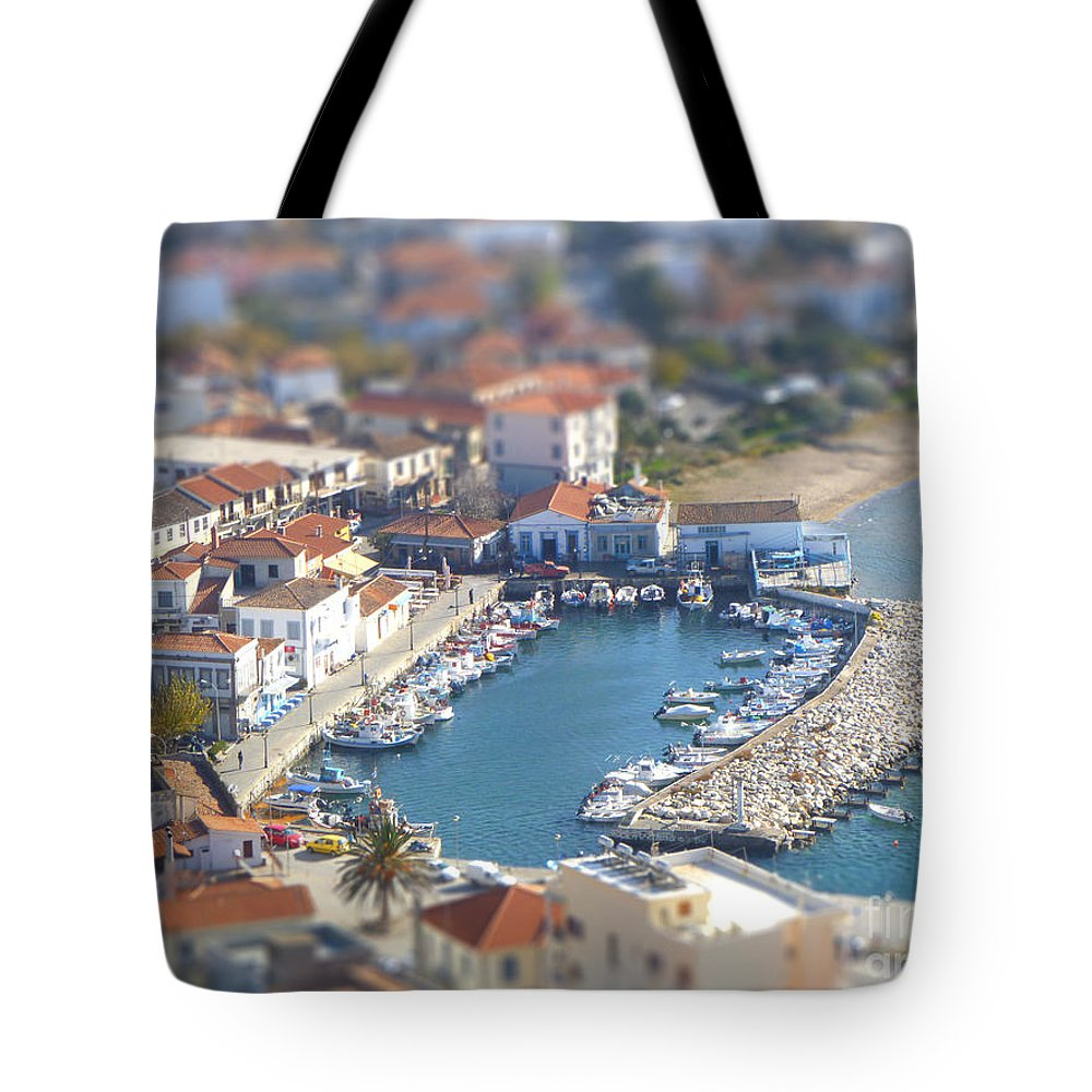 Miniature Tote Bag featuring the photograph Miniature Port by Vicki Spindler
