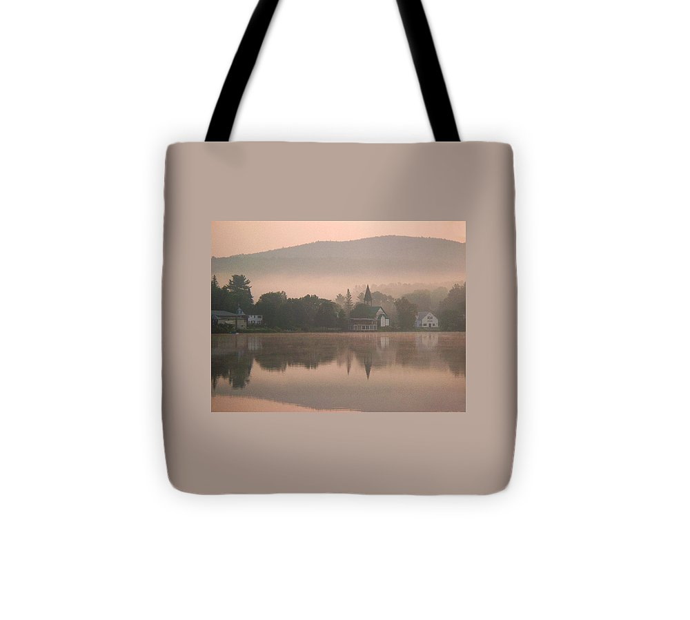 Summer Tote Bag featuring the photograph Minnehonk Morning Mist Rising by Joy Nichols