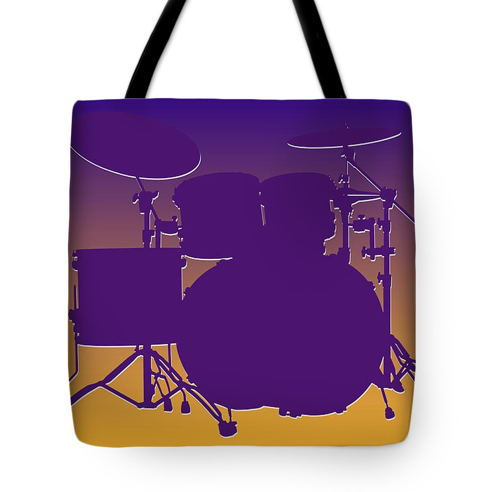Vikings Tote Bag featuring the photograph Minnesota Vikings Drum Set by Joe Hamilton