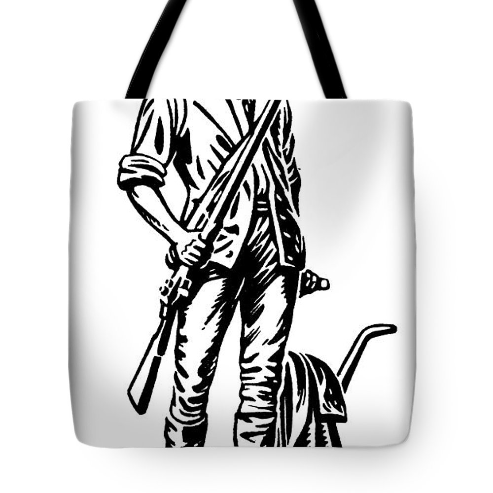 18th Century Tote Bag featuring the photograph Minutemen by Granger