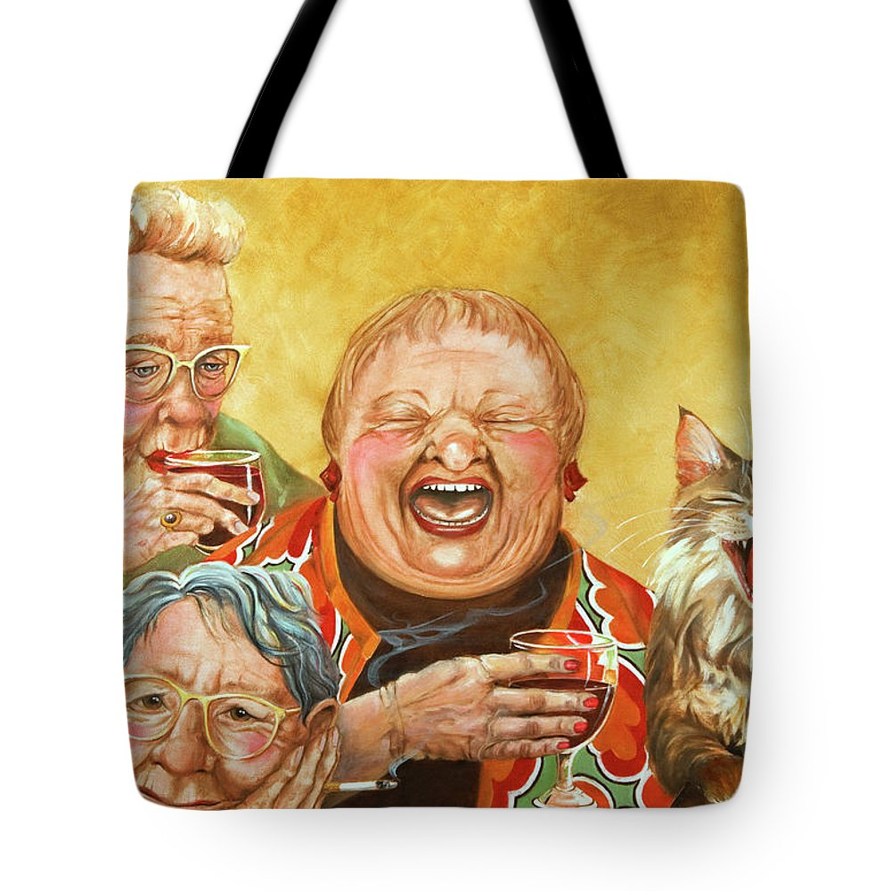 Elderly Paintings Tote Bags