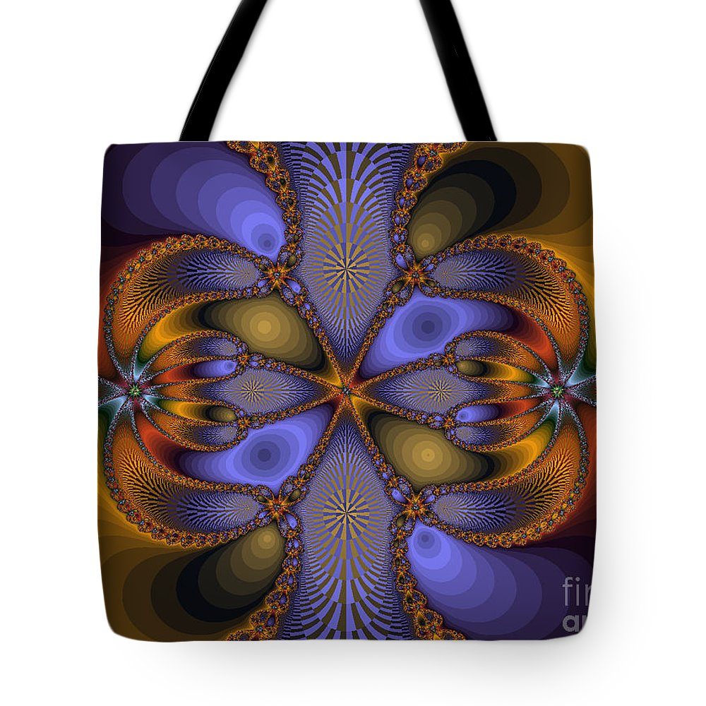 Fractal Tote Bag featuring the photograph Mirror Butterfly by Darleen Stry