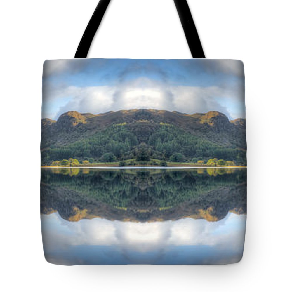 Hdr Tote Bag featuring the photograph Mirror Lake by Adrian Evans