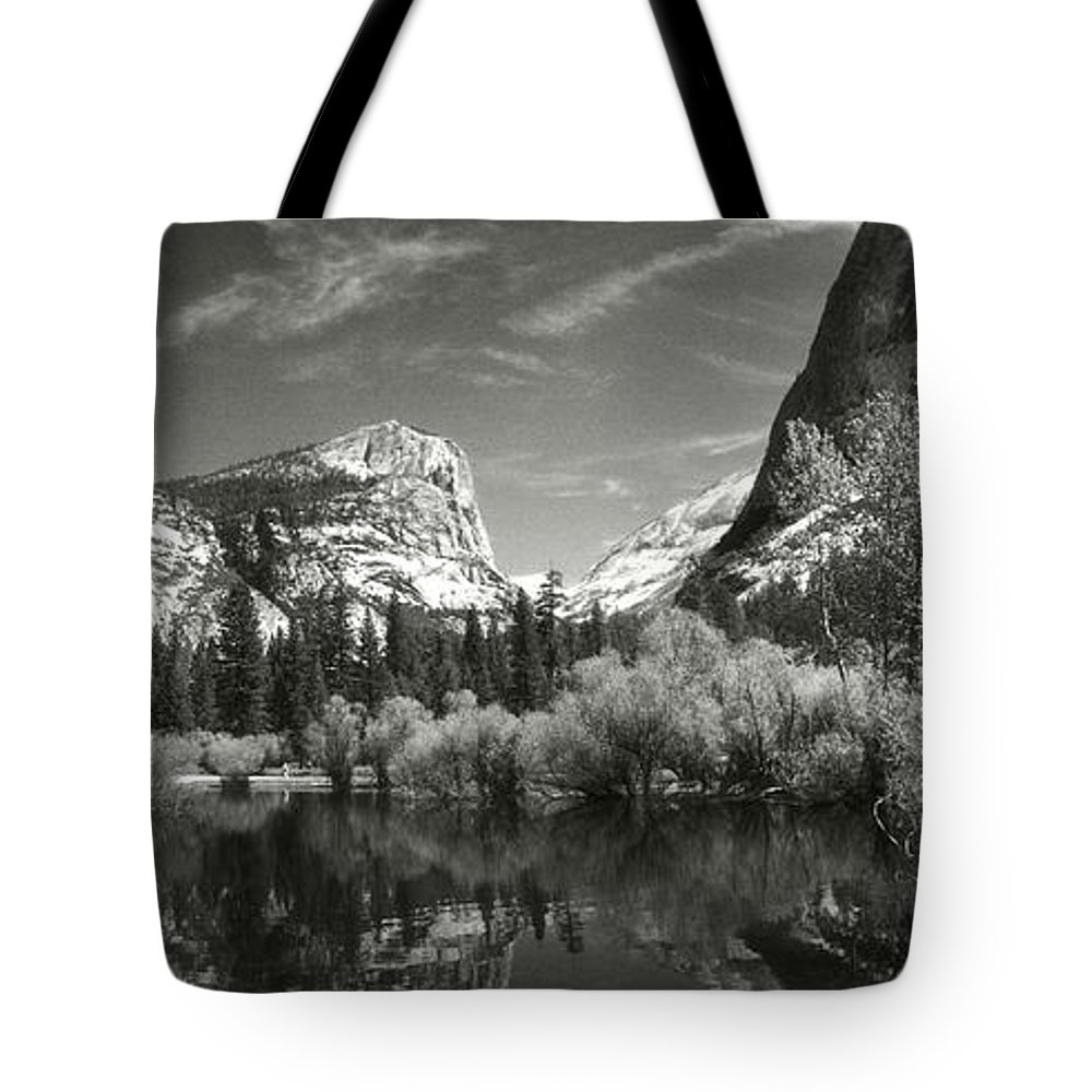 Photography Tote Bag featuring the photograph Mirror Lake In Yosemite National Park by Panoramic Images