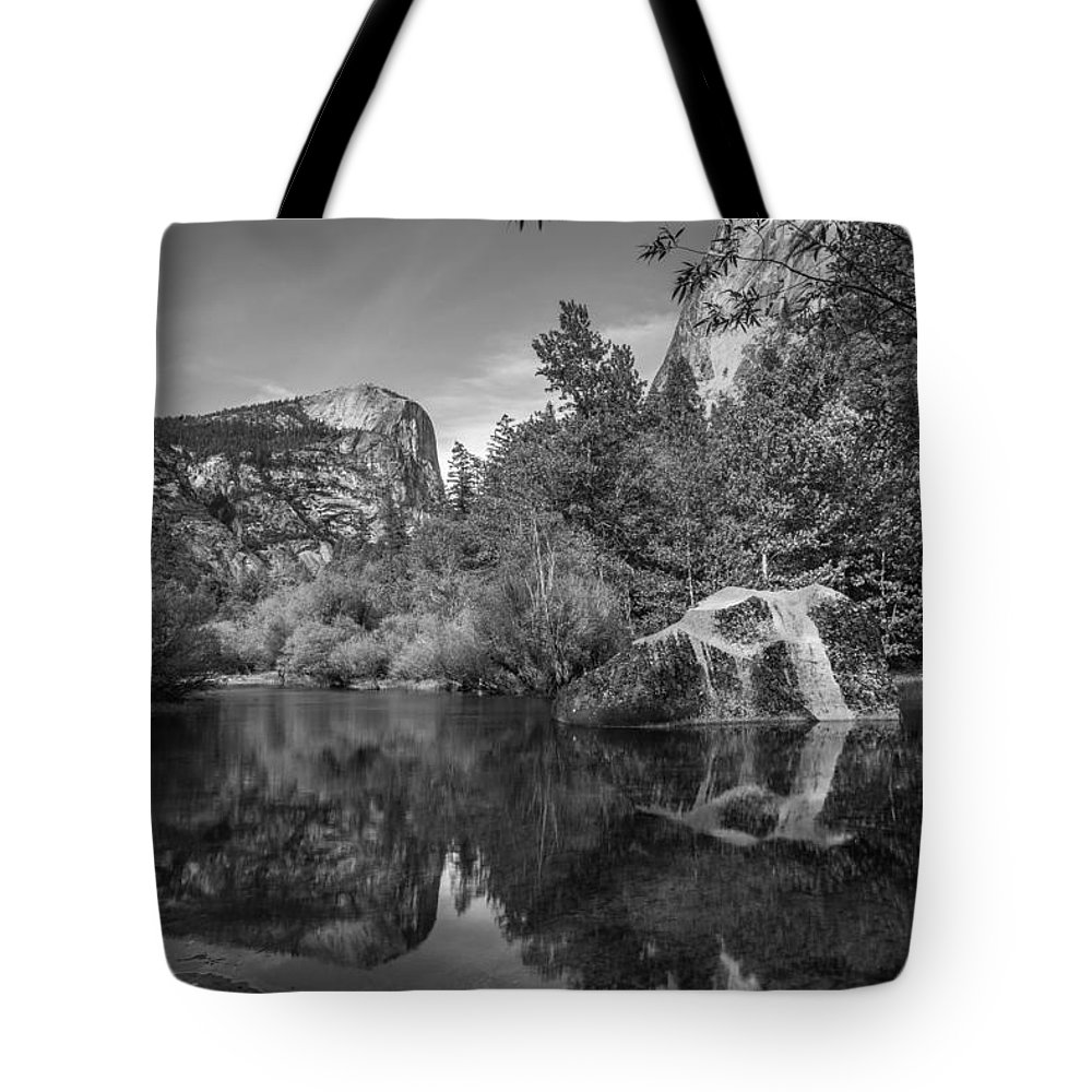 Yosemite Tote Bag featuring the photograph Mirror Lake by Kristopher Schoenleber