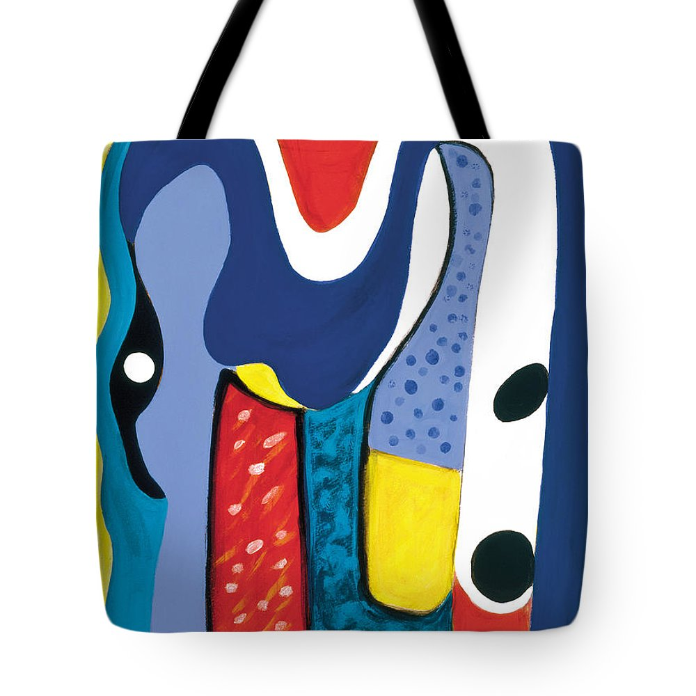 Abstract Art Tote Bag featuring the painting Mirror Of Me 1 by Stephen Lucas