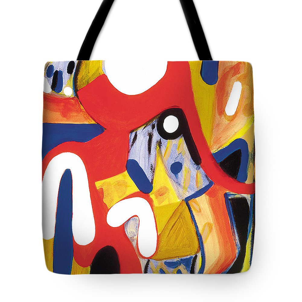 Abstract Art Tote Bag featuring the painting Mirror Of Me 2 by Stephen Lucas