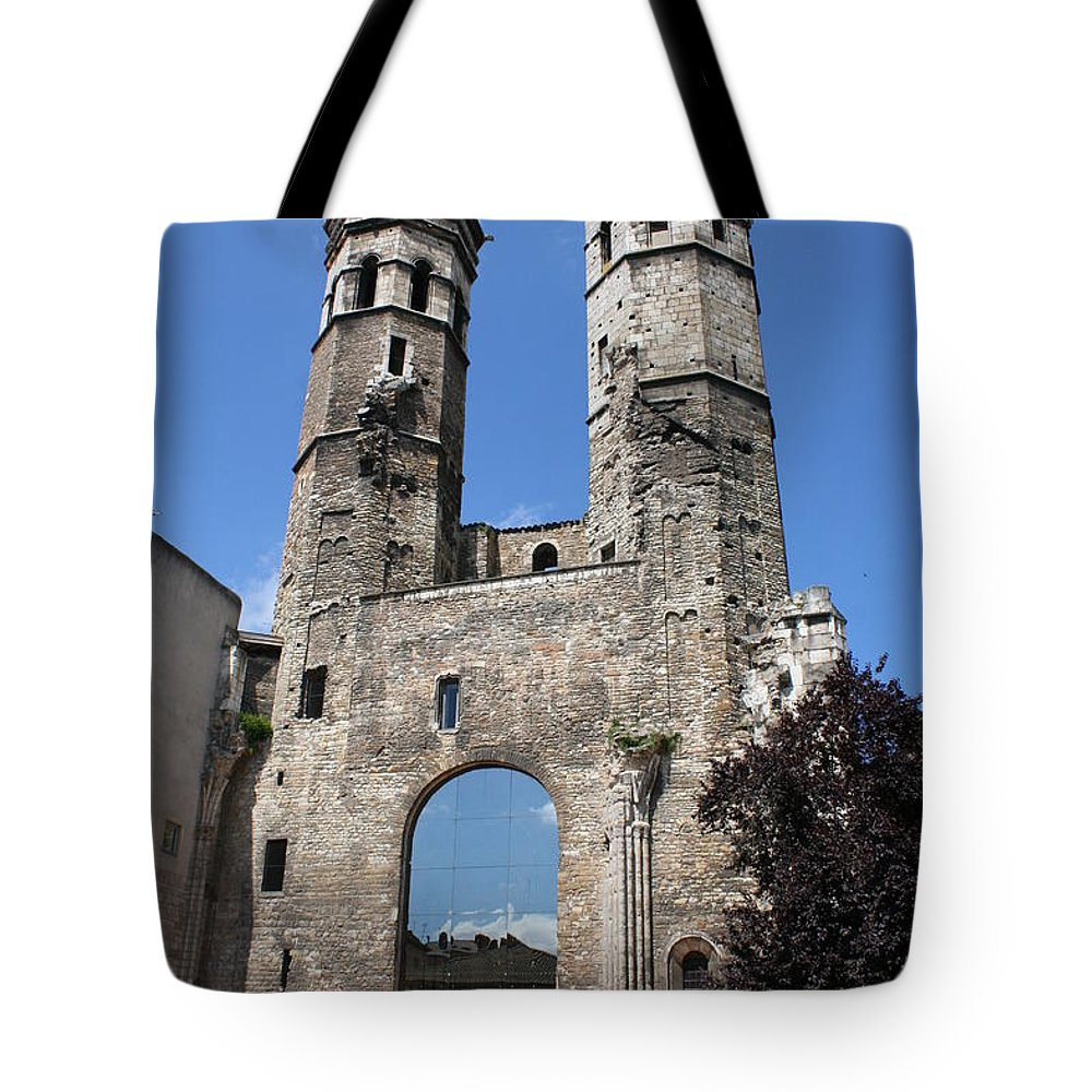 Church Tote Bag featuring the photograph Mirrored Portal - Macon by Christiane Schulze Art And Photography