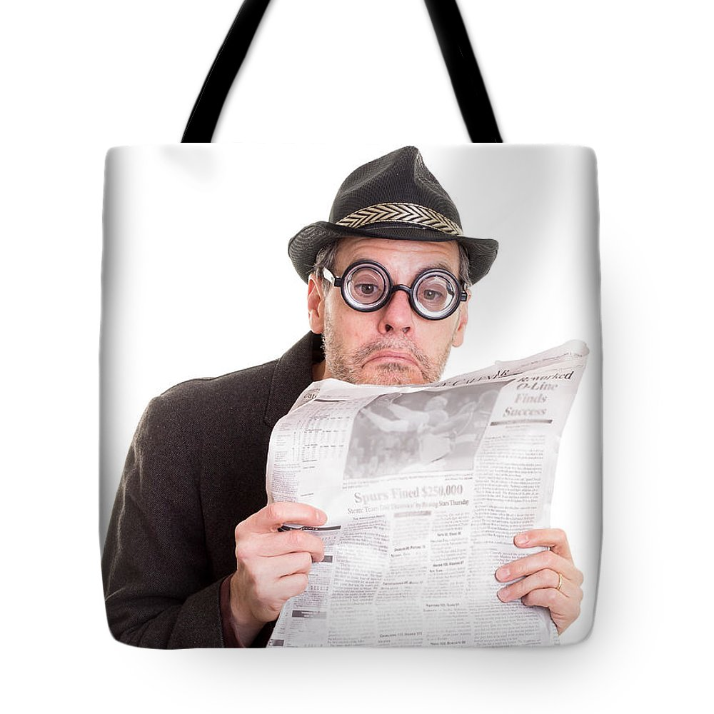 Friend Tote Bag featuring the photograph Miss You In The Funny Papers by Edward Fielding