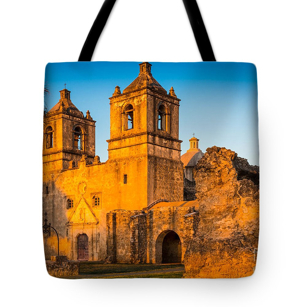 America Tote Bag featuring the photograph Mission Concepcion by Inge Johnsson
