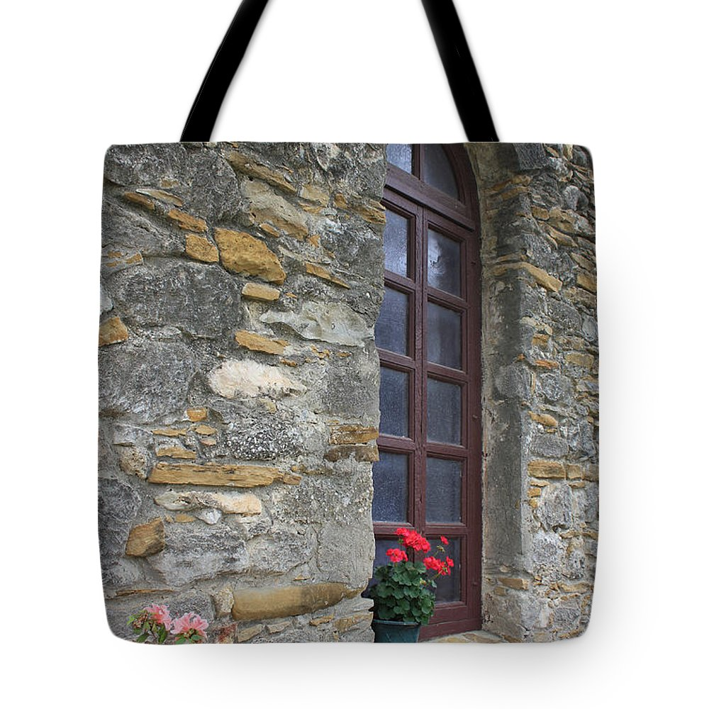 Missions Tote Bag featuring the photograph Mission Espada Window by Kathleen Scanlan