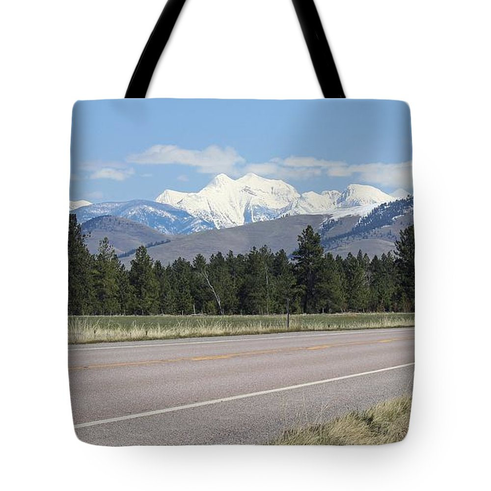 Montana Scenic Byways Tote Bag featuring the photograph Mission Mountains by Tonya P Smith