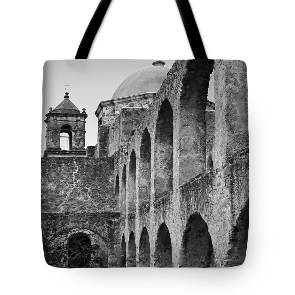 Mission Tote Bag featuring the photograph Mission San Jose by David and Carol Kelly