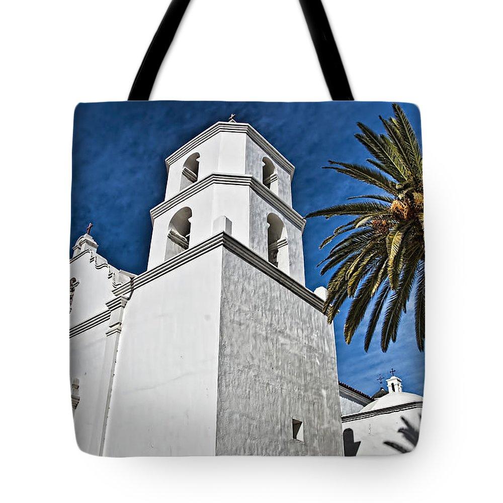 Mission San Louis Rey California Tote Bag featuring the photograph Mission San Luis Rey - California by Jon Berghoff