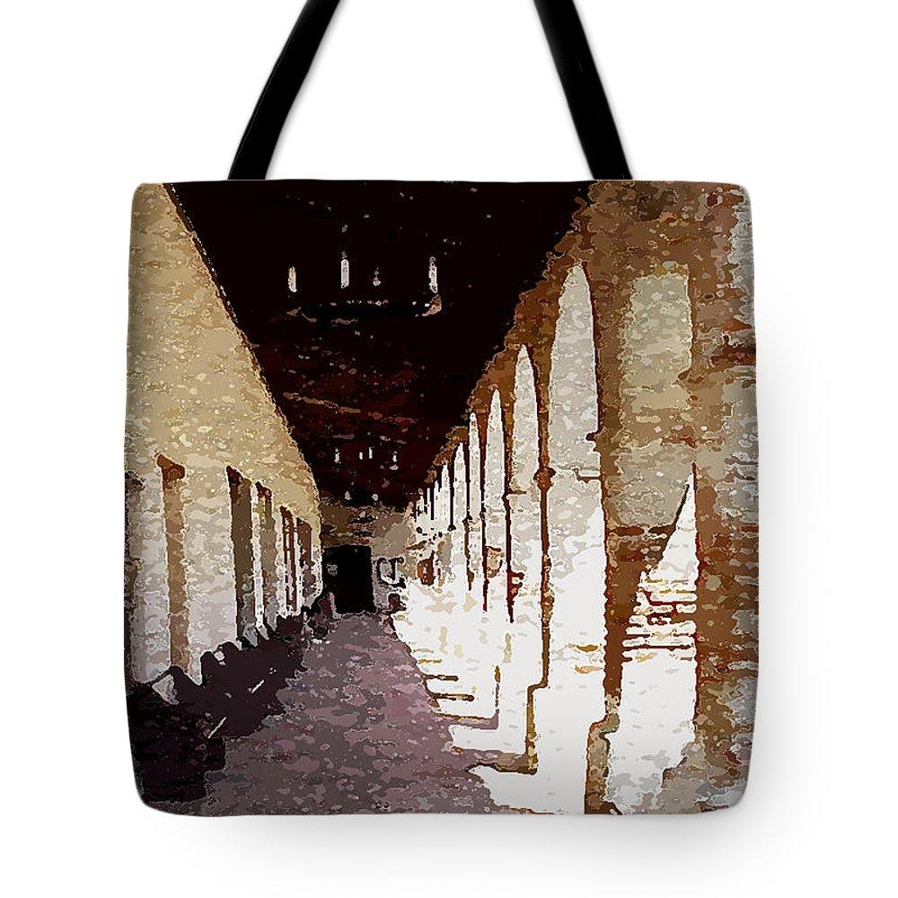 Mission San Miguel Tote Bag featuring the photograph Mission San Miguel by Flamingo Graphix John Ellis