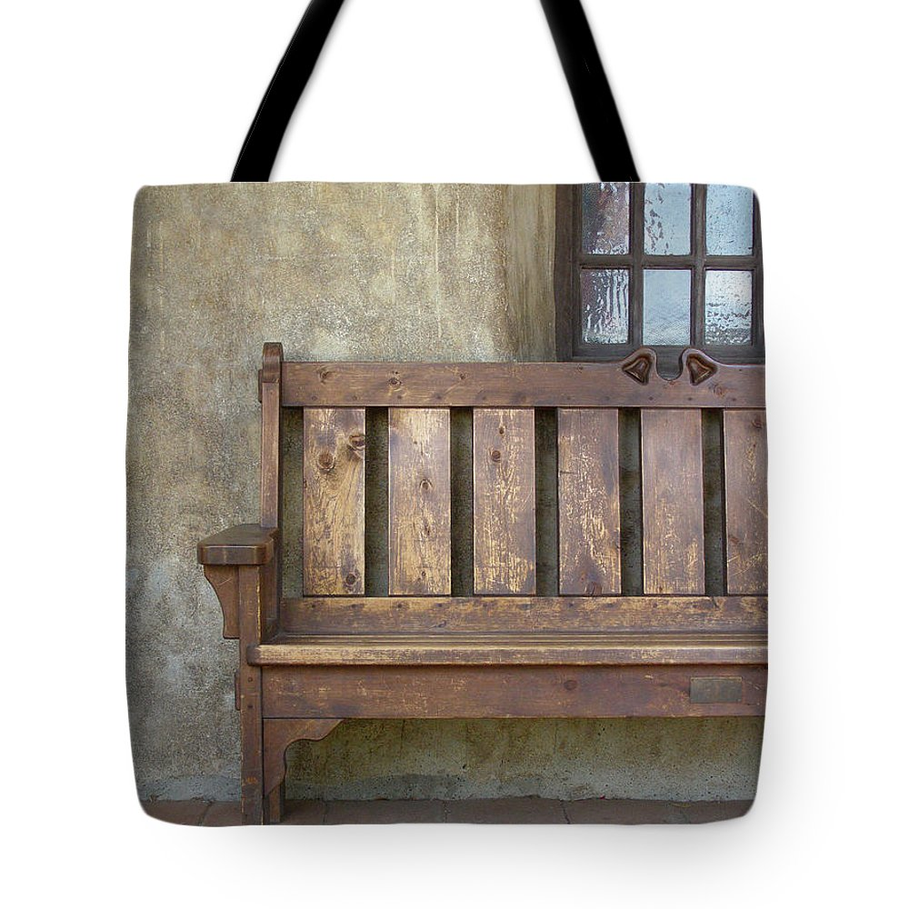 California Missions Tote Bag featuring the photograph Mission Still Life II, Mission San Juan Capistrano, California by Denise Strahm