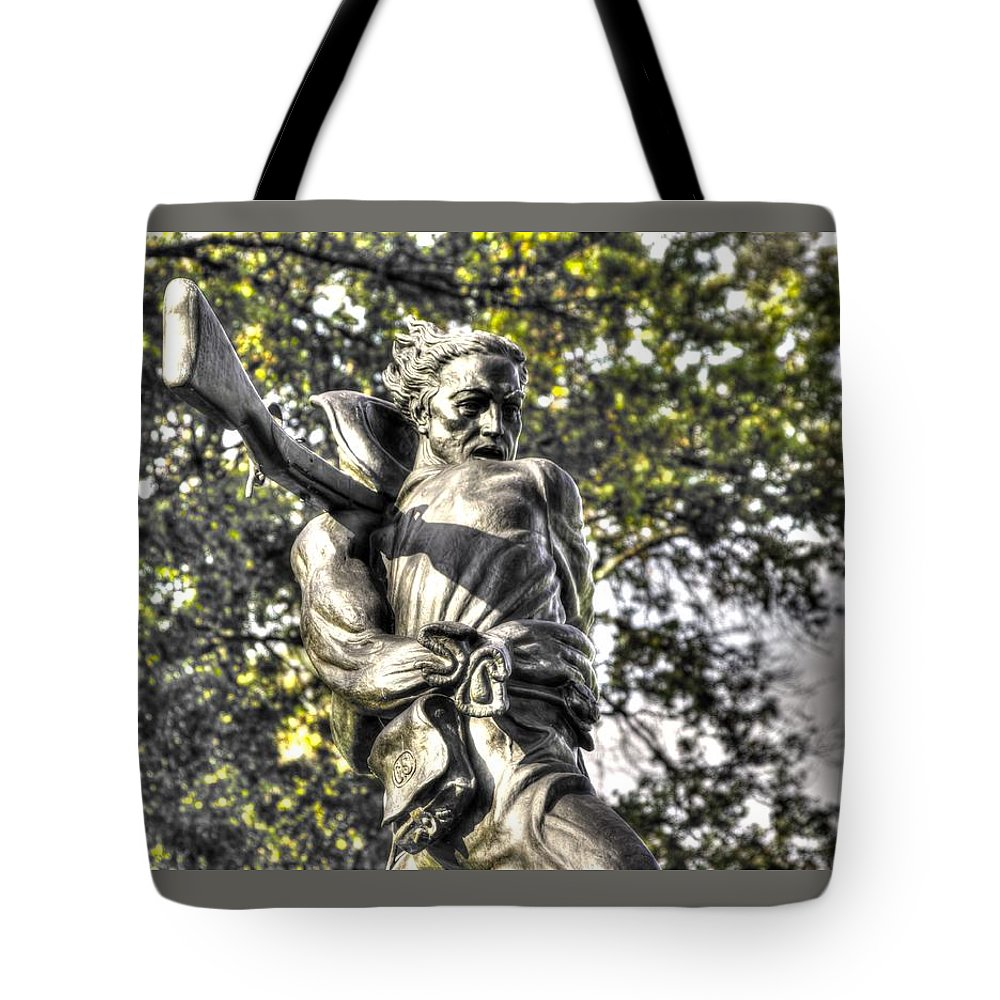 Civil War Tote Bag featuring the photograph Mississippi At Gettysburg - Desperate Hand-to-hand Fighting No. 2 by Michael Mazaika