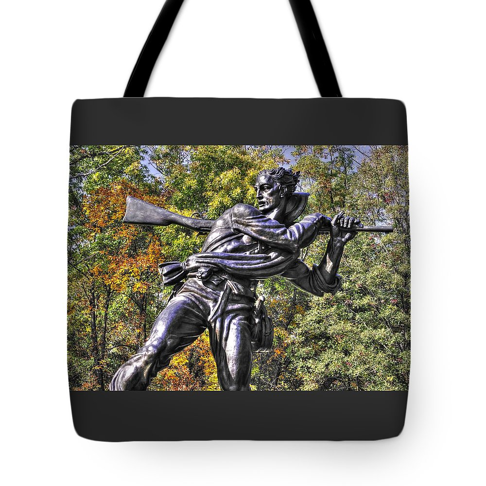 Civil War Tote Bag featuring the photograph Mississippi At Gettysburg - Desperate Hand-to-hand Fighting No. 3 by Michael Mazaika
