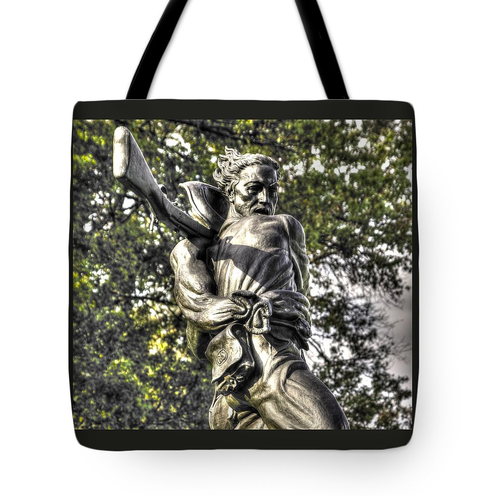 Civil War Tote Bag featuring the photograph Mississippi At Gettysburg - The Rage Of Battle No. 2 by Michael Mazaika