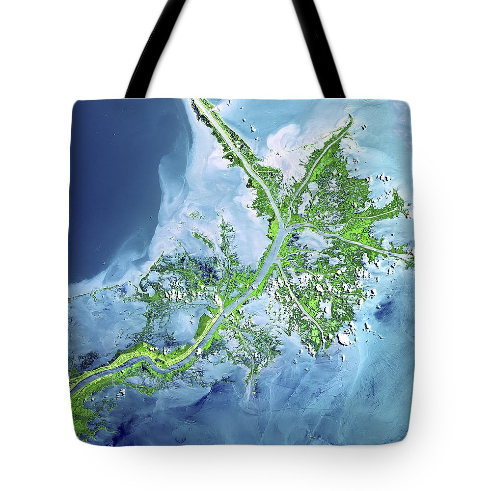 3scape Tote Bag featuring the photograph Mississippi River Delta by Adam Romanowicz