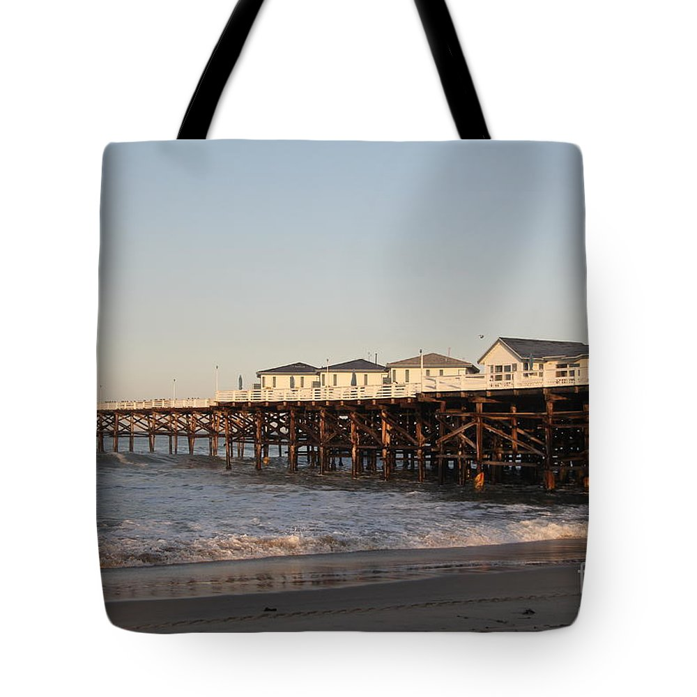 Mission Beach Tote Bag featuring the photograph Misson Beach by Diane Greco-Lesser