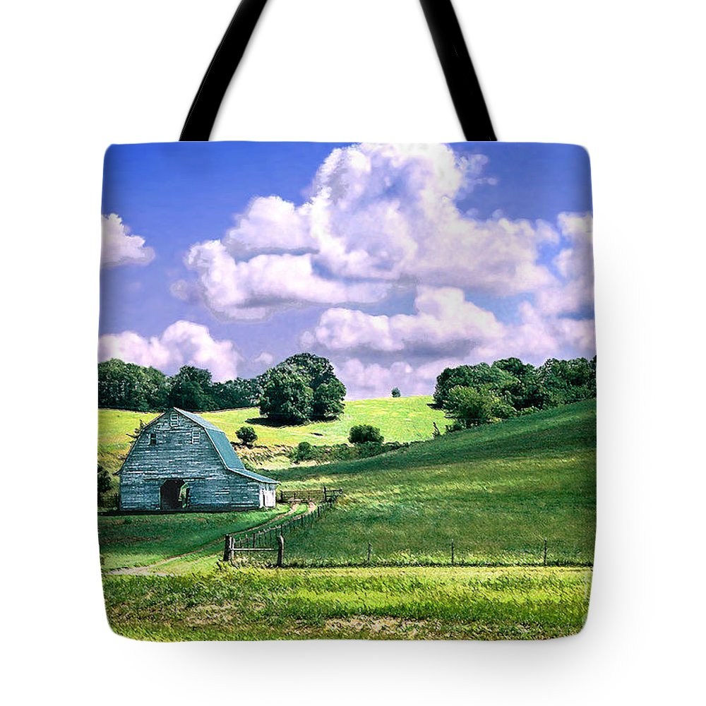 Landscape Tote Bag featuring the photograph Missouri River Valley by Steve Karol
