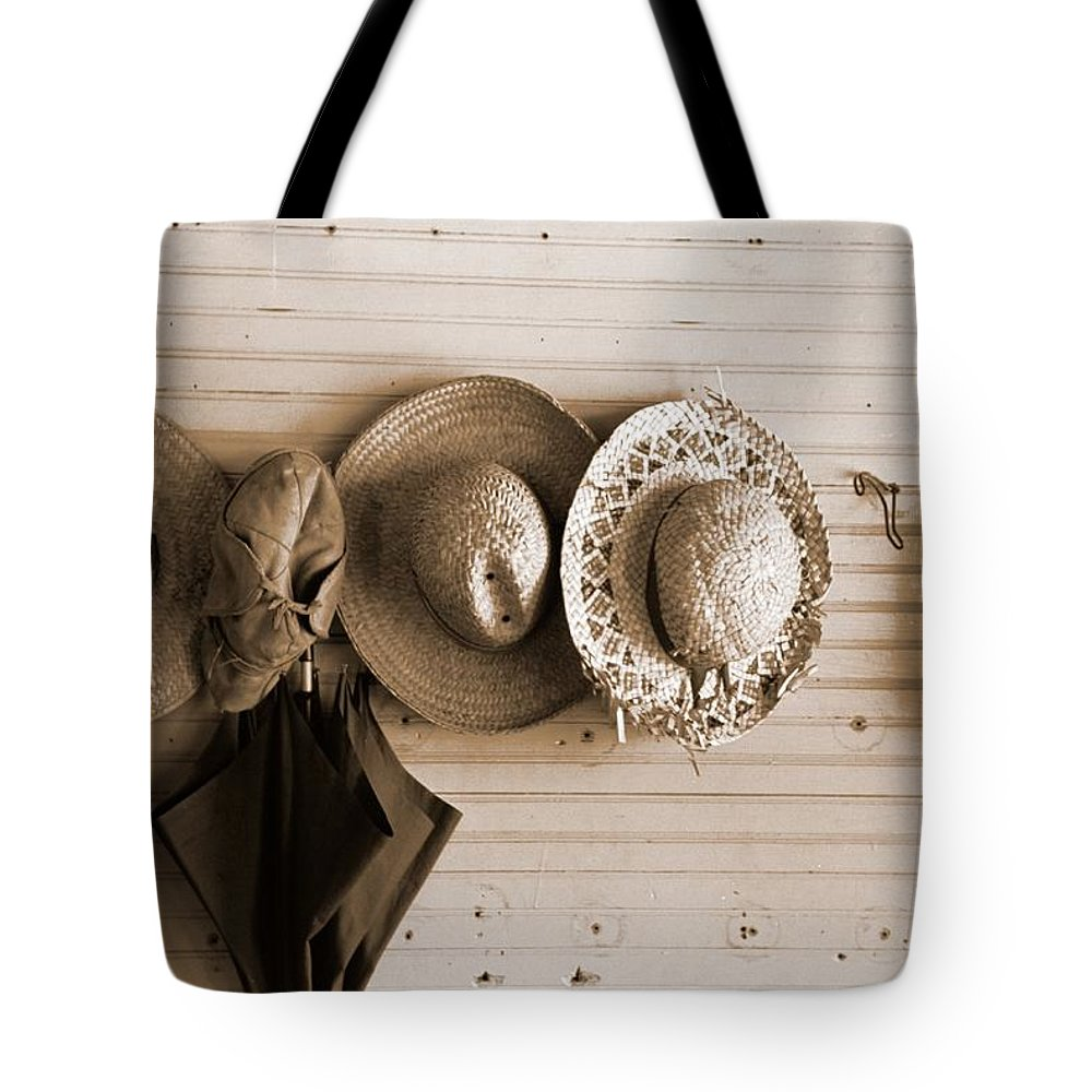 1929s Tote Bag featuring the photograph Missouri School Cloak Room 1920s by Mountain Dreams