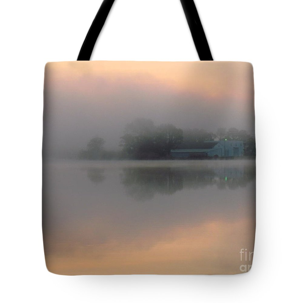 Nature Tote Bag featuring the photograph Mist At Dawn 02 by Rrrose Pix