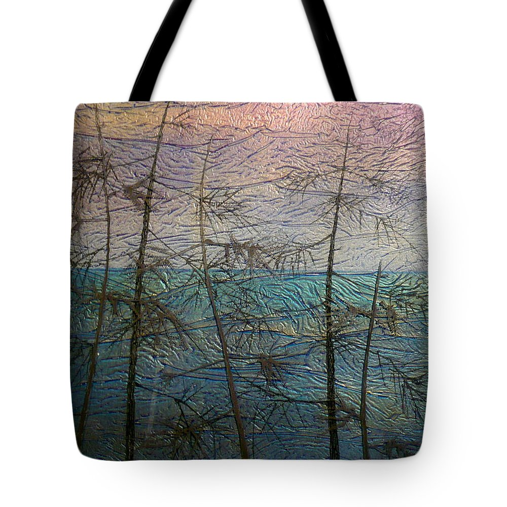 Landscape Tote Bag featuring the painting Mist Fantasy by Rick Silas